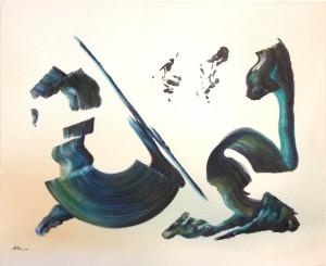 Kaligraphie mit Grün HP 2000
