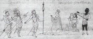 Eine der wenigen zeitgenössischen Shakespeare-Illustrationen (Quelle: Wikipedia)