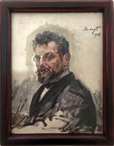 Max Slevogt SELBSTBILDNIS, 1908 (Lenbachhaus, München)