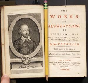 In seine Shakespeare-Gesamtausgabe von 1733 nahm Theobald das Stück nicht mehr auf. Komisch.