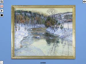 George Gardner Symons, WINTER LANDSCAPE (1920, Öl auf Leinwand, 55x66 Zoll; Foto aus exhibbit)