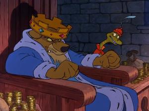 Ganz klar von den falschen Beratern umgeben: King John, hier im lebensechten Disney-Portrait (Bild von www.blogs.disney.com)