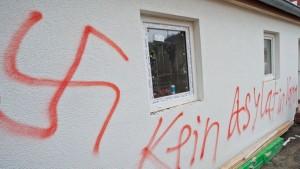 Schmierereien in Vorra, Bayern (Foto: www.br.de)