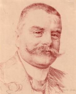 Eigentlich hieß er Friedrich Adolf Axel Freiherr von Liliencron, aber er nannte sich FREIWILLIG Detlev. Und das war lange vor Hitler. Sachen gibts. (Bild von www.de.wikipedia.org)