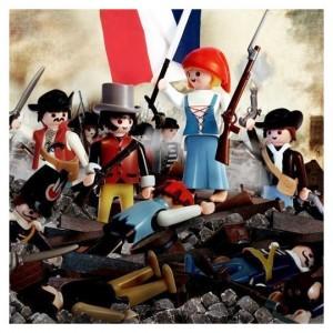 """Auch wenn es mit bloßem Auge kaum zu erkennen ist: Kein Delacroix, sondern ein Richard Unglick: """"Die Freiheit führt das Volk"""" (Bild von http://planetepetitsloups.com)"""