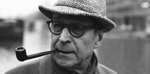 Natürlich raucht der geistige Vater ebenso Pfeife wie sein Kommissar: George Simenon (Bild von www.saetzeundschaetze.com)