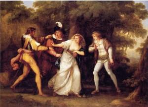 So sah die Schlussszene 1789 aus. Die einen machen Revolution, die andern überlassen sich großmütig die Frauen. Tja. (Foto von www.bostoniano.info)