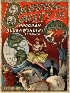 Das war 1903 das Nonplusultra der Shows: Barnum and Bailey's BOOK OF WONDERS (Bild von www.oldwoodtoys.com)