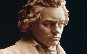Ich kann mir nicht vorstellen, dass er da gleichgültig dieser Aufnahme zuhören würde. Obwohl - er war ja taub. (Bild von www.telegraph.co.uk)