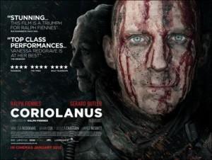 Gottseidank hat Ralph Fiennes in seiner Neuverfilmung von 2011 verstanden, worum es geht: Sein Filmplakat spricht mehr als die - vielen - Worte in Shakespeares Stück. (Bild von www.en.wikipedia.org)