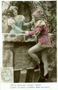 Kitsch as kitsch can be. Selbst vor Männern in Strumpfhosen macht der Romantikwahn nicht halt. (Bild von www.goethezeitportal.de)