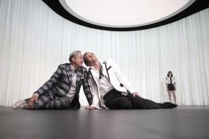 Markus Hering als Dutrécy und Johannes Zirner als Neffe Armand in ICH ICH ICH (Foto Johannes Pohlmann, von www.residenztheater.de)