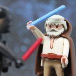 Obi Wan Kenobi im Kampf mit Darth Vader I